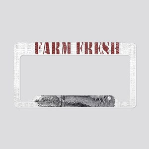 Country Chic Cow Farmhouse License Plate Holder