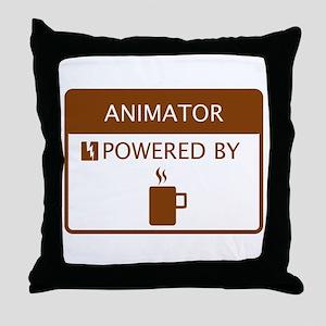 Animator Powered by Coffee Throw Pillow