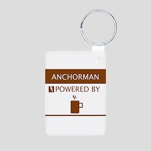 Anchorman Powered by Coffee Aluminum Photo Keychai