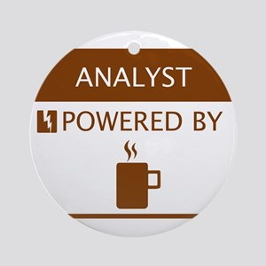 Analyst Powered by Coffee Ornament (Round)