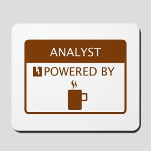 Analyst Powered by Coffee Mousepad