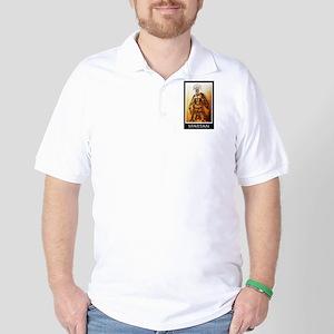 Gold spartan Golf Shirt