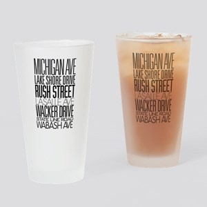 I Love ChiTown Drinking Glass