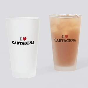 I Love Cartagena Drinking Glass