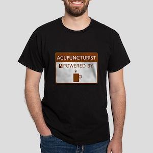 Acupuncturist Powered by Coffee Dark T-Shirt