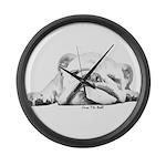Sleepy Head Large Wall Clock