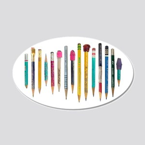 Old Favorite Pencils 20x12 Oval Wall Decal
