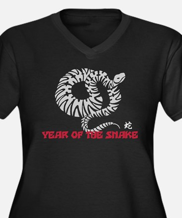 Chinese New Year of The Snake Women's Plus Size V-