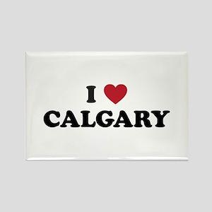 I Love Calgary Rectangle Magnet