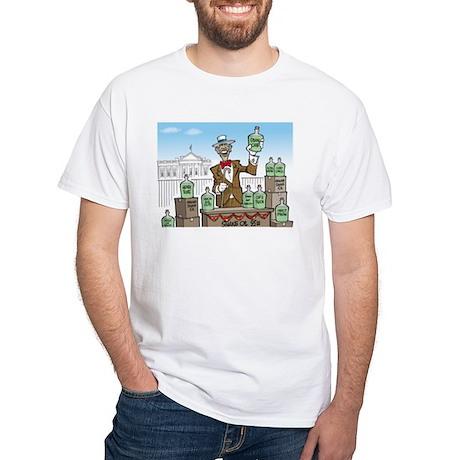 Anti Obama Snake Oil Salesman White T-Shirt