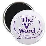 The V Word Logo Magnet