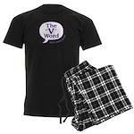 The V Word Logo Men's Dark Pajamas