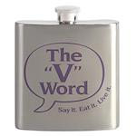 The V Word Logo Flask