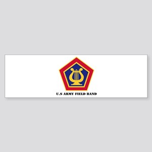 U.S Army Field Band with Text Sticker (Bumper)