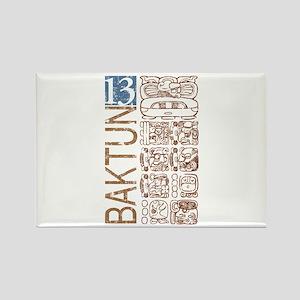 Baktun 13 - Mayan Calendar Glyphs Rectangle Magnet