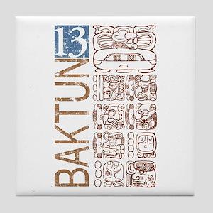 Baktun 13 - Mayan Calendar Glyphs Tile Coaster