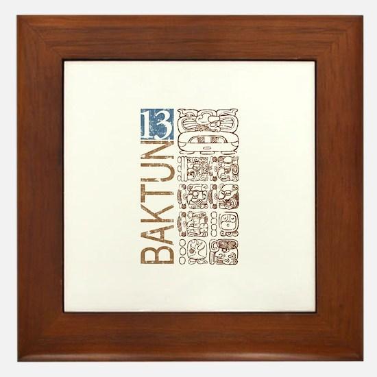 Baktun 13 - Mayan Calendar Glyphs Framed Tile