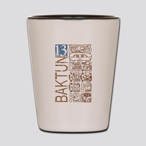 Baktun 13 - Mayan Calendar Glyphs Shot Glass