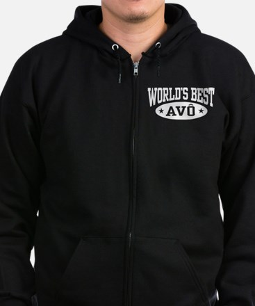 World's Best Avo Zip Hoodie (dark)