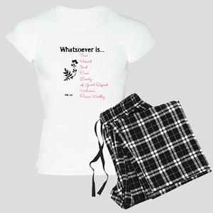 Phil. 4:8 Women's Light Pajamas