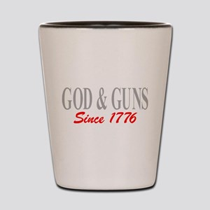 GOD and GUNS Shot Glass