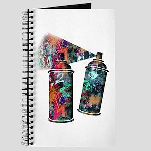 Graffiti and Paint Splatter Spray Cans Journal