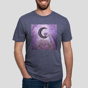 Wonderful fairy on the moon Mens Tri-blend T-Shirt