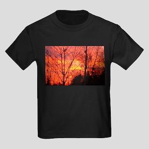 Fire Sky Kids Dark T-Shirt
