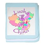 Luohe China Map baby blanket