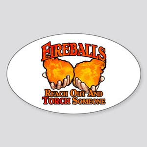 Fireballs Sticker (Oval)