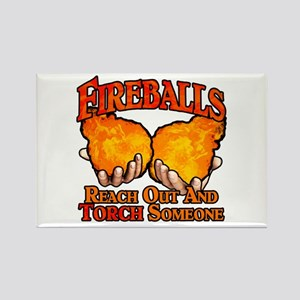 Fireballs Rectangle Magnet