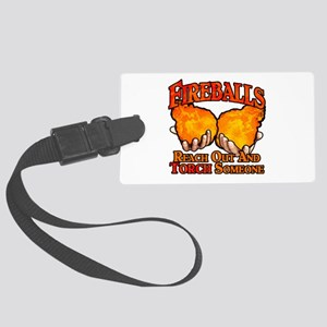 Fireballs Large Luggage Tag