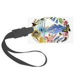 Mountain Wildflowers Large Luggage Tag