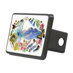 Mountain Wildflowers Rectangular Hitch Cover