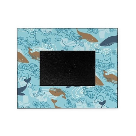 Whale Waves Brown\Blue Picture Frame