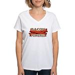 Bacon Powered Women's V-Neck T-Shirt