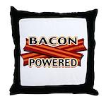 Bacon Powered Throw Pillow
