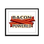 Bacon Powered Framed Panel Print