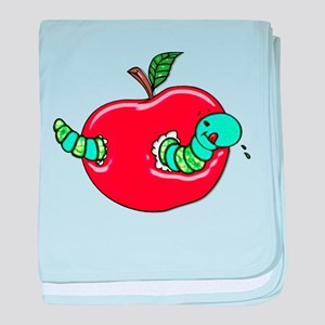 Apple and a Hungry Worm baby blanket