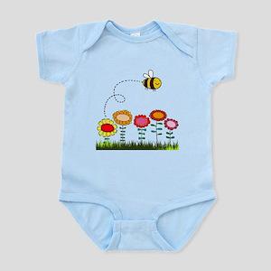 Bee Buzzing a Flower Garden Infant Bodysuit