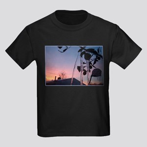 Winter Rose Kids Dark T-Shirt