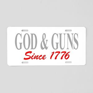 GOD and GUNS Aluminum License Plate