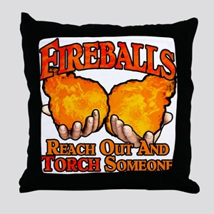 Fireballs Throw Pillow