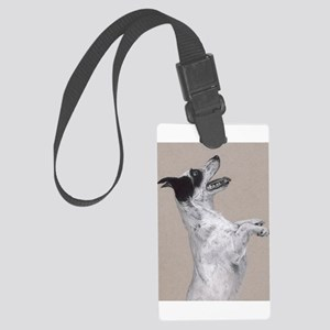 jack russel pastel painting Large Luggage Tag