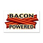Bacon Powered Rectangle Car Magnet