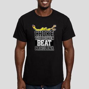 ChokeTheChickenBeatCarolina Men's Fitted T-Shi