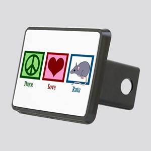 Peace Love Rats Rectangular Hitch Cover
