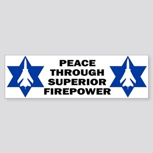 Israeli - Peace through superior firepower Sticke