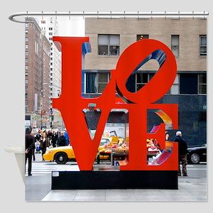 NYC: LOVE Shower Curtain