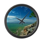 Mogollon Rim Overlook Large Wall Clock
